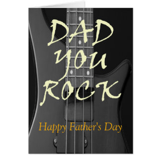 Dad You Rock Happy Father's Day Custom Greeting Card