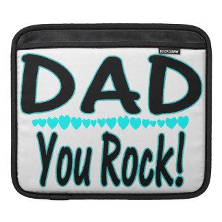 Dad You Rock With Hearts iPad Sleeves