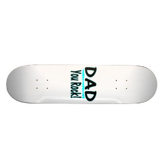 Dad You Rock With Hearts Skate Board Decks