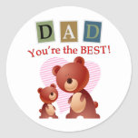Dad, You're the best. Stickers