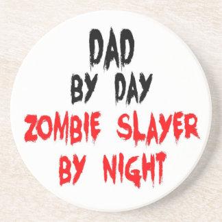 Dad Zombie Slayer Drink Coaster