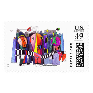 Dada Art Party Postage Stamps