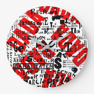 DADA ART TEXT POSTER DESIGN LARGE CLOCK