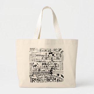 DADA POSTER (THEO van DOESBURG) Jumbo Tote Canvas Bag