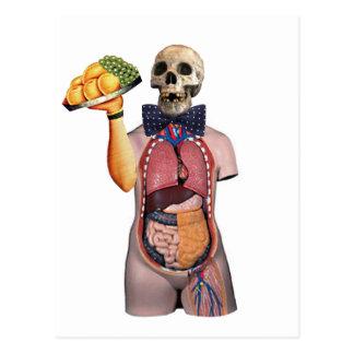 Dada Skull Waiter Postcard