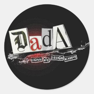 DADA Small (20) Black Stickers