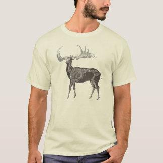 Dadaist Stag Party Weird Prehistoric Elk Skeleton T-Shirt