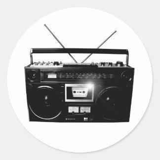 Dadawan Ghettoblaster boombox 1980 Classic Round Sticker