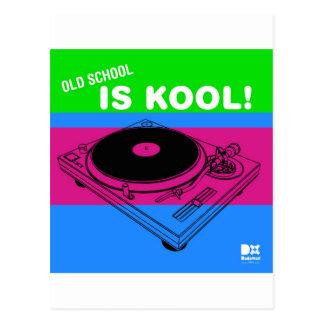 Dadawan Old school is kool  vynil deck Postcard