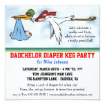 Dadchelor Diaper Keg New Dad Cute Party Invitation