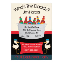 "Dadchelor Diaper Keg Party Invitations 5"" X 7"" Invitation Card"