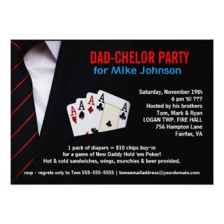 Dadchelor - invitaciones sofisticadas del fiesta d anuncios personalizados