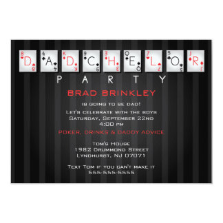 Dadchelor Party Baby Shower Card - Poker Cards