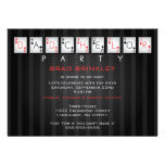 Dadchelor Party Baby Shower Card - Poker Cards Personalized Announcement