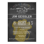"Dadchelor Party Invite in Chalkboard Typography 5"" X 7"" Invitation Card"