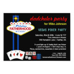Dadchelor Party - Vegas Casino Style Invitations