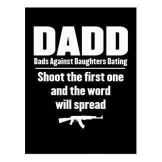 dadd - dads against daughters dating funny postcard