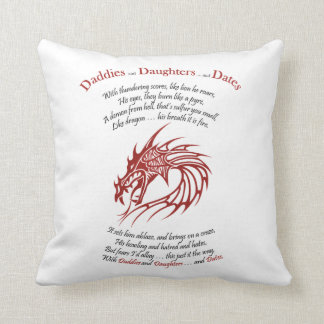 Daddies and Daughters and Dates Poem on Pillow