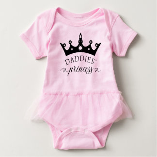 Daddies' Princess Baby Tutu Bodysuit Shirt