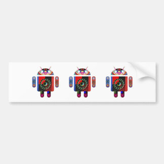 Daddy and Baby Android  -  Art101 by Navin Car Bumper Sticker