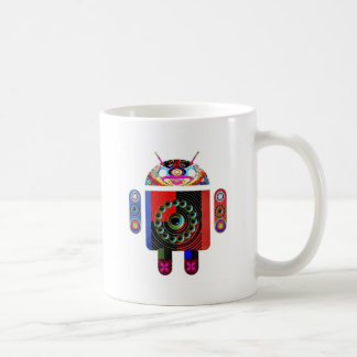 Daddy and Baby Android  -  Art101 by Navin Classic White Coffee Mug