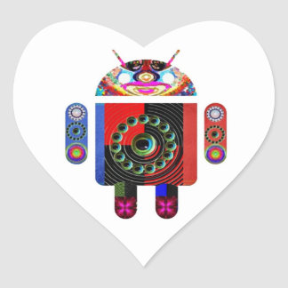 Daddy and Baby Android  -  Art101 by Navin Heart Sticker