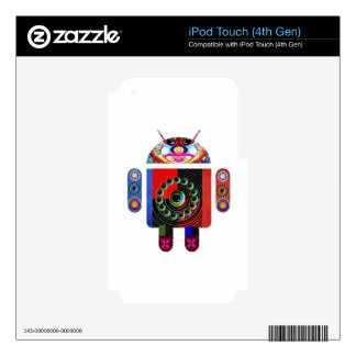 Daddy and Baby Android  -  Art101 by Navin iPod Touch 4G Decal
