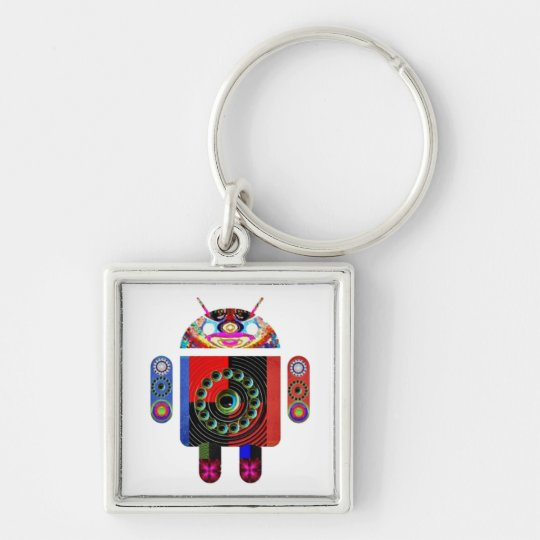 Daddy and Baby Android  -  Art101 by Navin Keychain