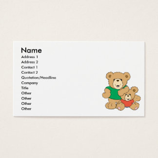 Daddy and Baby Boy Bear Business Card