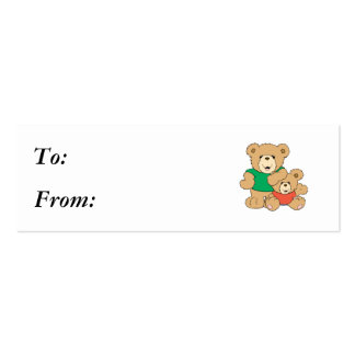 Daddy and Baby Boy Bear Business Cards