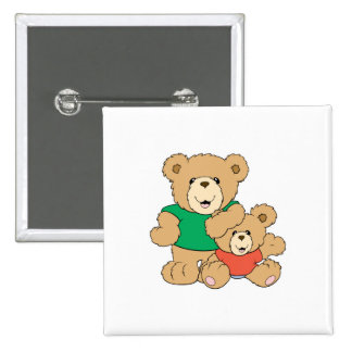 Daddy and Baby Boy Bear Pinback Buttons