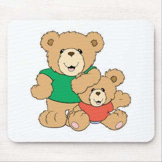 Daddy and Baby Boy Bear Mouse Pad
