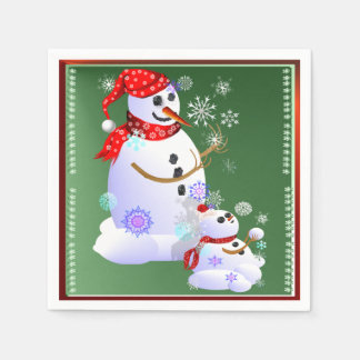 Daddy and Baby Snow Napkin