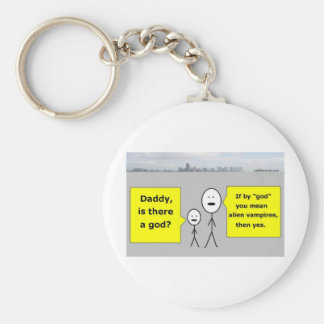 Daddy and Bobby - is there a god? Keychain