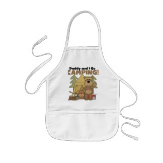 Daddy and I Go Camping Tshirts and Gifts Kids' Apron