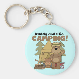 Daddy and I Go Camping Tshirts and Gifts Key Chains