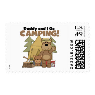 Daddy and I Go Camping Tshirts and Gifts Postage Stamp