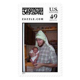 Daddy and Lucy Stamps
