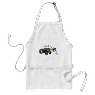Daddy and Me Girl Tractors Adult Apron