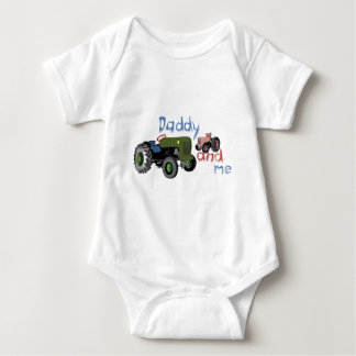 Daddy and Me Girl Tractors Baby Bodysuit