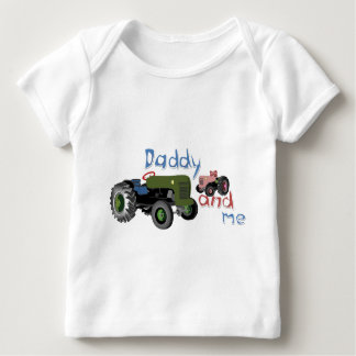 Daddy and Me Girl Tractors Baby T-Shirt