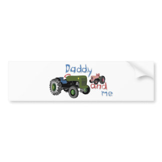 Daddy and Me Girl Tractors Bumper Sticker