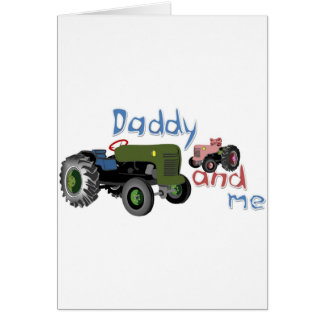 Daddy and Me Girl Tractors Card