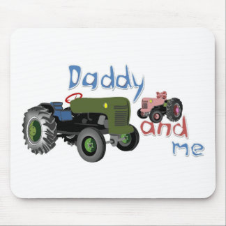 Daddy and Me Girl Tractors Mouse Pad