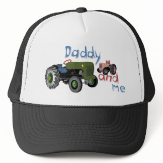 Daddy and Me Girl Tractors Trucker Hat