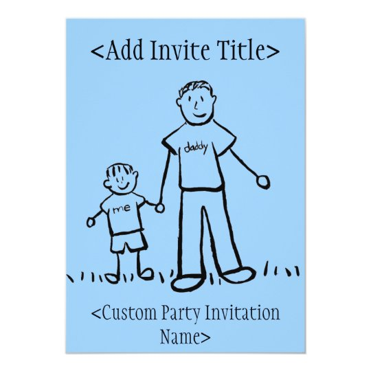 """""""Daddy and Me"""" Little Boy Invitation or Invites"""