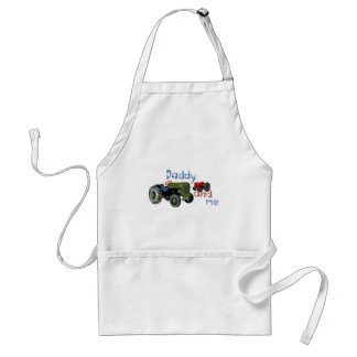Daddy and Me Tractors Adult Apron