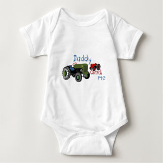 Daddy and Me Tractors Baby Bodysuit