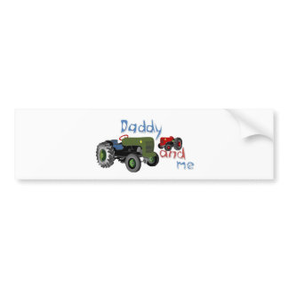 Daddy and Me Tractors Bumper Sticker
