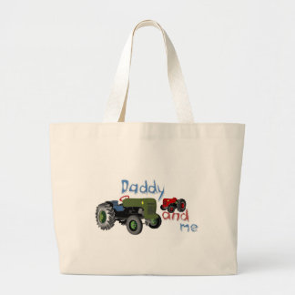 Daddy and Me Tractors Large Tote Bag